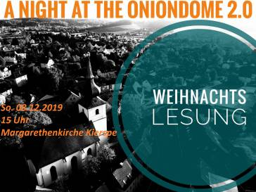 Weihnachtslesung A Night at the Onion Dome 2.0